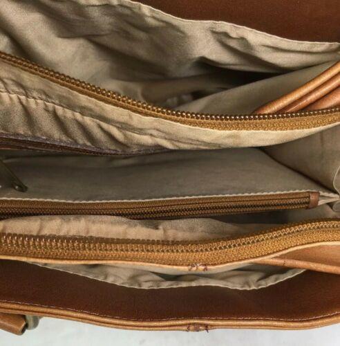 American Angel Brown Leather Multi Pocket Shoulder Bag – Distressed image 3