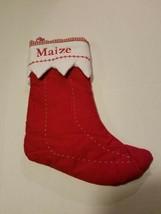 Pottery Barn Christmas Stocking Maize gingham - $19.79