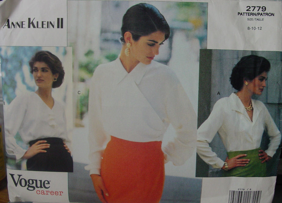 Vogue Designer Pattern 2779 sz 8-12 Anne Klein II - Three different blouses