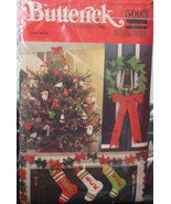 Vintage Pattern 5093 Christmas Felt Ornaments, Stockings and Wreath - $6.99