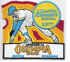 Beer Baseball Seattle Mariner & Olympia Beer 1977 Skydome AL Promo Patch 4.25 x  - $9.99