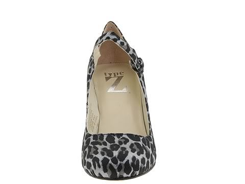 Animal Print Type Z Womens SZ 8 (7.5) Shoes Strappy Heels Leopard Satin Leather
