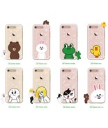 LINE Friends Light UP Clear Case V.2 iPhone 7/7 Plus Soft Cover Mobile S... - $43.98