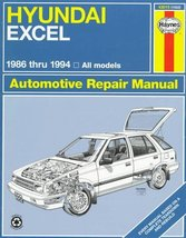 Hyundai Excel 1986-1994: Automotive Repair Manual (Hayne's Automotive Re... - $5.89