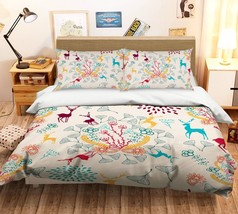 3D Christmas  Xmas 18 Bed Pillowcases Quilt Duvet Cover Set Single Queen King AU - $64.32+