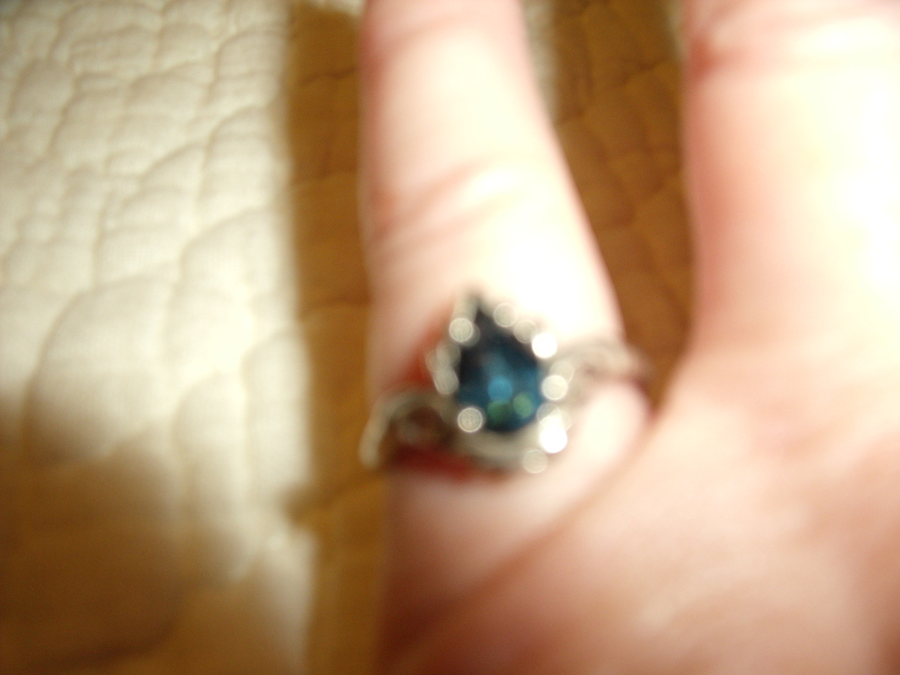 Vintage Sterling Silver and Blue Topaz Estate Look Ring