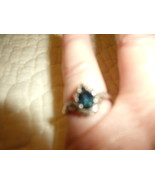 Vintage Sterling Silver and Blue Topaz Estate Look Ring - $60.00