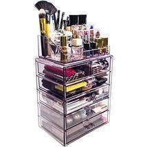 Acrylic Makeup Organizer Clear Display Case Storage Cosmetic Jewelry Hom... - $65.50 CAD