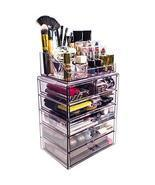 Acrylic Makeup Organizer Clear Display Case Storage Cosmetic Jewelry Hom... - €42,79 EUR