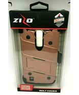Zizo Bolt Cover Rose Gold For LG K7 W/ Screen Protector Holster and Kick... - $9.49