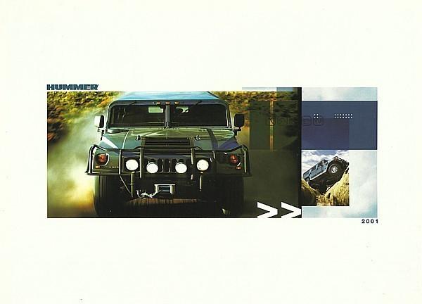 2001 HUMMER H1 sales brochure catalog folder US 01 HumVee