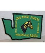 John Wayne Pioneer Wagons Riders Washington WA Patch - $5.29