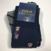 Polo Ralph Lauren Preppy Bear Sock 2-Pack. Navy.NWT.MSRP $18.00 - $16.73