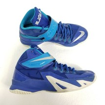 Nike LeBrons Zoom Soldier VIII TB Basketball Shoes Sz 7.5 Blue Silver 65... - $35.49