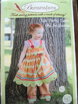 Bananafana Tea Party Twirl Sewing Pattern  12 months to 5T Shipping Incl... - $9.95