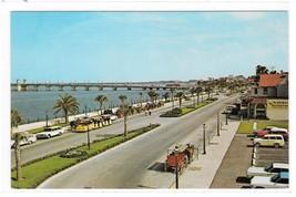 St Augustine Florda Matanzas Bay Front Bridge of Lions Vintage FL Postcard - $2.99