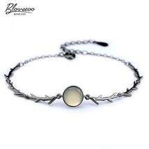 Creative Thorns Thai Silver Bracelet Women's Vintage Fashion Jewelry Rose Flower - $9.77