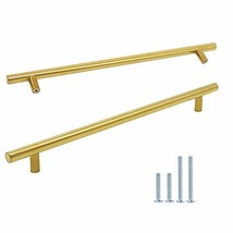"""Brass Cabinet Pulls 10"""" 256mm Hole Centers-10PACK T Bar Drawer Pulls Gold Drawer"""