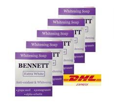 x5 BENNETT Soap Extra White Antioxidant & Whitening Skin with Alpha Arbutin 130g - $34.64