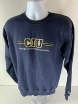 Champion Columbia International University Crewneck Sweatshirt Navy Blue... - $24.74