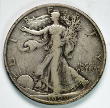 1929S Walking Liberty Half Dollar 90% Silver Coin Lot# A 224