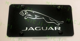 Jaguar Front  Auto Heavy Duty Vanity Stainless Metal License Plate Frame - $23.99