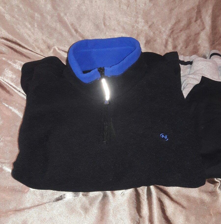 Nautica Competition Fleece Pullover Sweater XXL Black VTG 90s plus 2 shirts