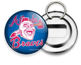 Atlanta Braves Baseball Team Indian Tomahawk Chief Head Bottle Opener Keychain - $11.62