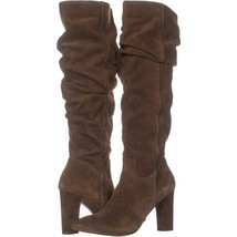 Franco Sarto Artesia Pointed Toe Slouch Knee High Boots 165, Light Brown Suede, - $63.35