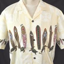 Surfboards Turtles Tapa Hawaiian Shirt XL Mens North Shore Aloha Royal C... - $23.09