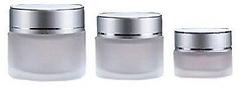 10g/20g/30g 2PCS Clear Glass Refillable Cosmetic Jars Empty Face Cream ... - $22.47