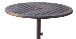 3-piece cast aluminum patio bistro set Elisabeth bar stools Nassau table image 3
