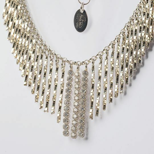 SILVER 925 NECKLACE RHODIUM WITH ZIRCON CUBIC BY MARY JANE IELPO MADE IN ITALY