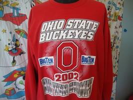 Vintage Ohio State Buckeyes 2002 Big 10 Football Champs Sweatshirt Size XL - $19.79