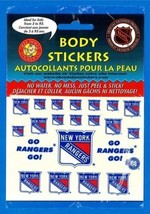 New York Rangers NHL Okee Dokee Body Decal Stickers Fast USA Shipping! - $1.25