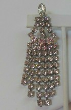 """Signed KANDELL & MARCUS NY Clear Rhinestone Dangling Brooch 3.5/8"""" Long - $28.07"""