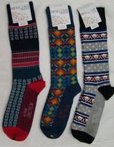 S104 - Alfani Spectrum Men's Mixed Color Modern Fair Isle Crew Socks Siz... - $9.95
