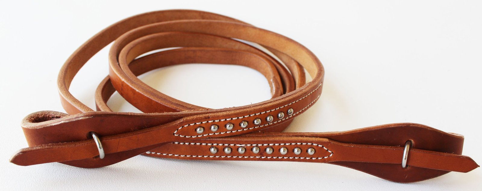 Horse  Western Amish Made Harness Leather Quick Change Single Reins Brass 66RT14 - $24.99