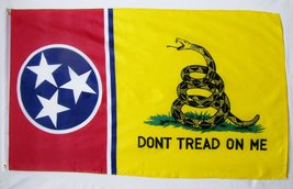Tennessee Gadsden Flag 3' X 5' Indoor Outdoor State Banner - $10.95
