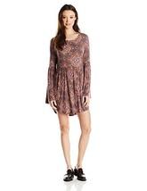 O'Neill Junior's Beverly Printed Sleeved Dress, Sparrow, Medium