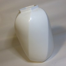 """MIKASA Bone China White Approx 7"""" Tall x 4"""" Wide Hexagonal Opening Swirl... - $16.60"""