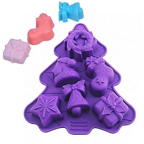 Silicone Soap Molds, or Cake Molds, or Chocolate Molds - Set for 6 Cavities - Th