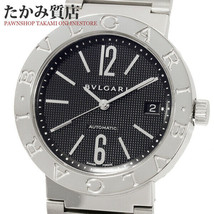 BVLGARI Bvlgari Bvlgari BB38SSAUTO Black Date 44mm x 38mm Men's Analog W... - $2,103.19