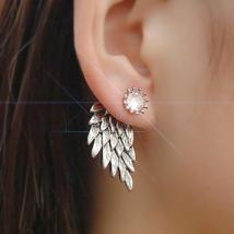 RHINESTONE Crystal Angel Wings ear pin jacket S... - $9.99