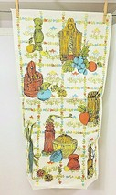 Vintage Linen Primitive Kitchen Tools and Things Printed Hand Towel  - $18.32