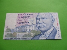 Original Irish Fifty Pound Note £50 1999 Ireland Douglas Hyde FREE SHIPPING - $175.00