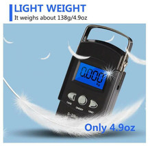50kg Portable LCD Electronic Hand Scale, Travel Hanging Fish Scale with ... - $10.98