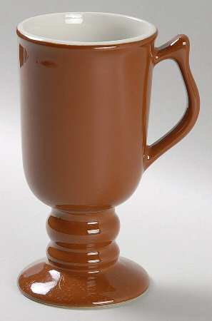 Vintage Hall Footed Brown Color Coffee Collectible Pottery Mug