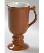 Vintage Hall Footed Brown Color Coffee Collectible Pottery Mug - $15.99