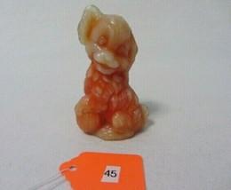 Boyd Art Glass Skippy The Dog Indian Orange B In Diamond Figurine 45 - $7.99